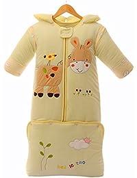 Gigoteuse bébé d'hiver épais à Manches Longues en coton environ 3,5 Tog Sac de couchage dessin d'âne Extensible 62-90cm - pour bébé 0-24 mois