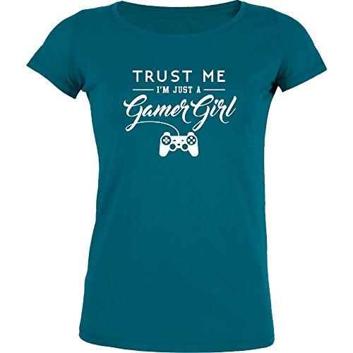 Gamer Girl - Stella Girl-Shirt, Diva Blue, Gr. S (Diva T-shirt Kids)