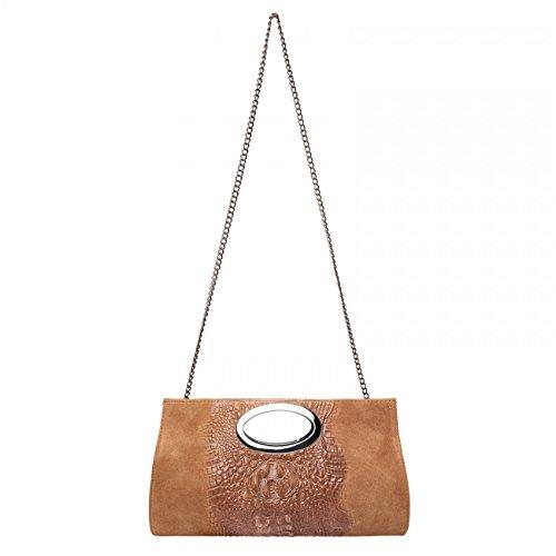 CASPAR Fashion, Poschette giorno donna (Cognac)