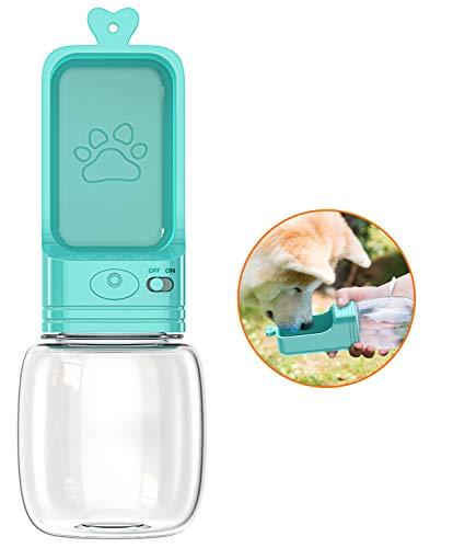 Babacom Hundetrinkflasche für Unterwegs, 350ML Auslaufsichere Tragbare Trinkflasche Hund, Leichte Wasserflasche Wasserspender Wassernapf Hund Katzen für Outdoor Reise Wandern Camping, BPA Frei