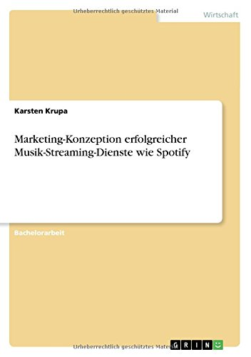 Marketing-Konzeption erfolgreicher Musik-Streaming-Dienste wie Spotify