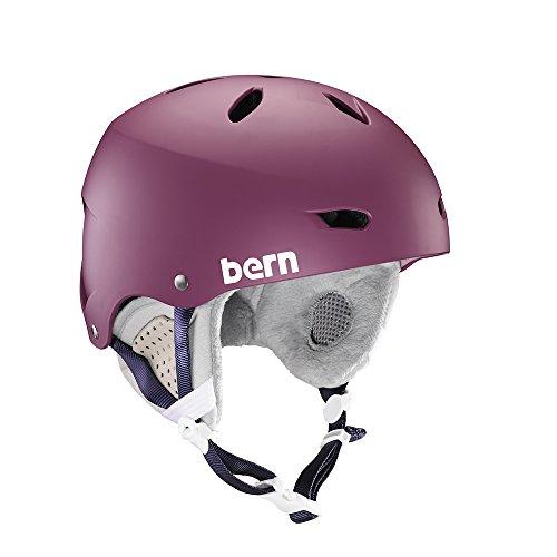 Bern Damen Helm Brighton Winter Schnee M Matte Berry