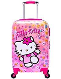 4784e54107 EXCLUSIVE FASHION LUGGAGE Polycarbonate 20 Inch 360 Rotating Printed Wheels  Hello Kitty Pink Bag for Boys