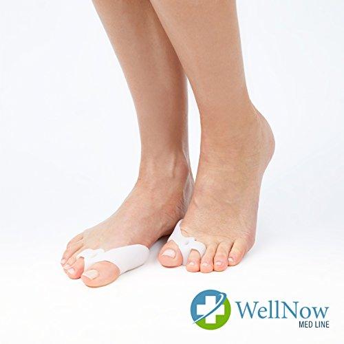 Wellnow - divaricatore per alluce valgo, in silicone di alta qualità, correzione efficace dell'alluce valgo