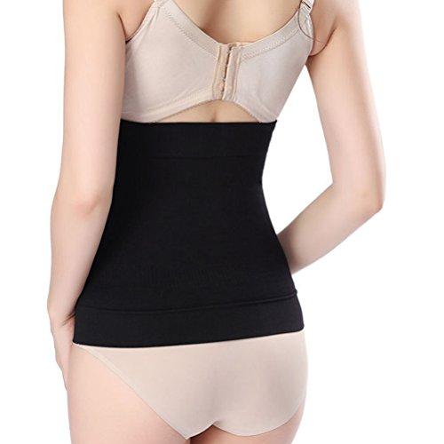 Zhhlaixing Schöne Körperform für Damen Seamless Postpartum Abdomen Belts Waist Trainer Breathable Girdle Postpartum Belly Wrap Shapewear for Women Black