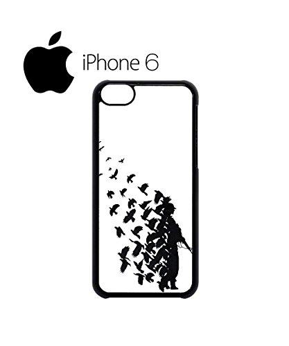 Banksy Soldier Peace Pigeons War Swag Mobile Phone Case Back Cover Hülle Weiß Schwarz for iPhone 6 Black Schwarz