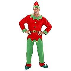 Idea Regalo - Costume da Elfo aiutante di Babbo Natale uomo donna taglia M