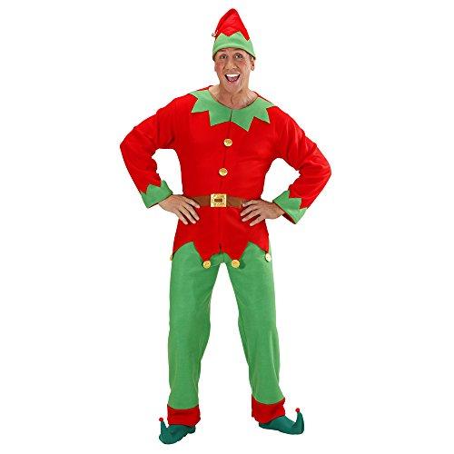 Costume da Elfo aiutante di Babbo Natale uomo donna taglia M