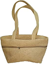 E-Jute Women's Jute Handbag Light Brown,Ej-4