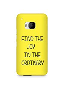 AMEZ find the joy in the ordinary Back Cover For HTC One M9