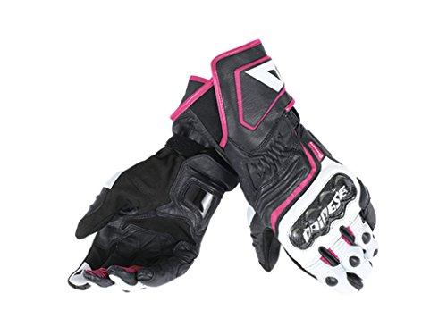 Dainese Carbon D1 Long Damen Handschuhe L Schwarz/Weiß/Pink