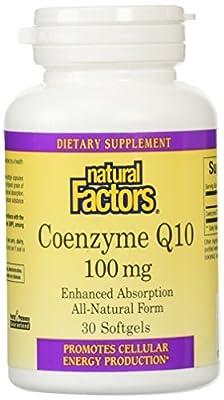 Natural Factors Coenzyme Q10, 30 Softgels 100 mg from Natural Factors
