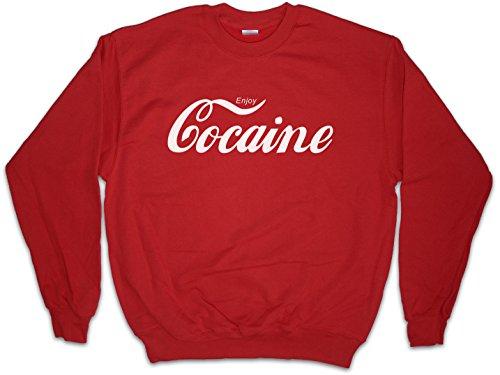 Enjoy Sudadera para Hombre Sweatshirt Pullover - Fun Pablo Escobar Kokain Kult Drug Retro Mafia Sudadera para Hombre Sweatshirt Pullover Tamaños S - 3XL