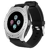 Winkey Sport Activity Tracker Smart Watch, Cardiofrequenzimetro, Smartwatch impermeabile con contapassi, promemoria chiamate SMS, compatibile con Android e iOS Silver