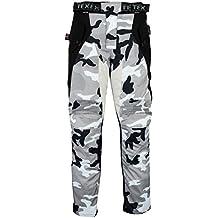 Pantalones de motorista con protector - Impermeables - Gris y camuflaje - Todas las tallas - W32 L30