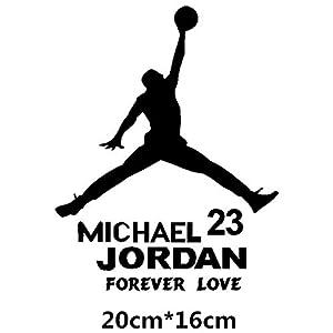 HANO Carmicheal Jordan Air 23 Kreative Abziehbilder für Auto Tankdeckel Wasserdicht Auto Tuning Styling 14 * 11cm & amp; 20 * 16cm D11: 20x16 Schwarz