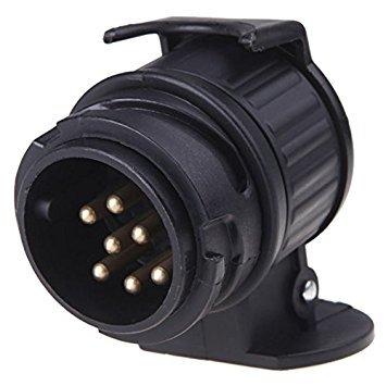 TOOGOO(R) 13 zu 7 Pin Adapter Anhaenger 12V Abschleppstange Wohnwagen LKW elektrischer Wandler