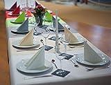 Tischdeckenrolle 25 m lang aus stoffähnlichem Vlies (Farbe & Breite nach Wahl), WEIß, 1m x 25m, ideal für jede Party, Catering, Vereinsfeier, Geburtstagsfeier - 2