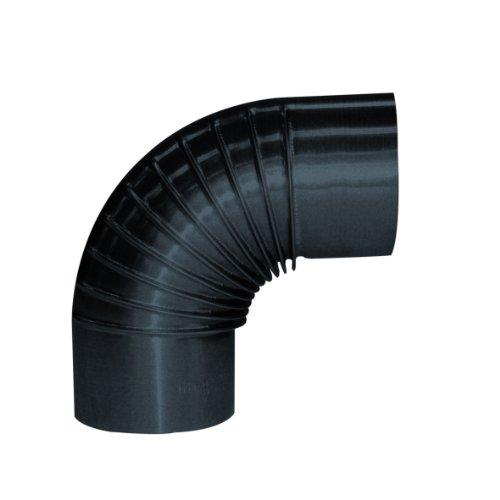 Kamino Flam Bogenknie aus Blaublech, Winkel von 90°, Bogen ideal für nostalgische Öfen, Abgasrohr aus hitzebeständig lackiertem Stahl, geprüft nach Norm EN 1856-2, Durchmesser: ca. 120 mm