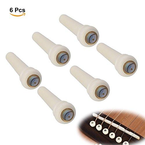Imagen de irich pernos del puente del hueso para la  acústica, pernos de la secuencia piezas de recambio con shell dot 6 pcs