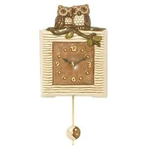 Thun orologi pendola con gufi ceramica variopinto for Thun orologio da parete prezzi
