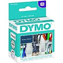 Dymo 30333 Etiketten (LabelWriter, 13mm x 25mm, 1000 Etiketten/Rolle) 1 Rolle/Box schwarz auf weiß