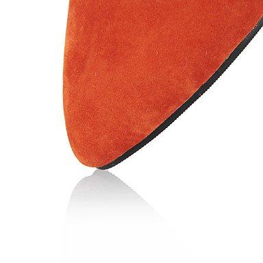 LFNLYX Sandales femmes Printemps Été Automne Autres Fleece Robe de Soirée Partie & Talon occasionnels d'autres Noir Bleu Rouge Orange Gris Autres Red