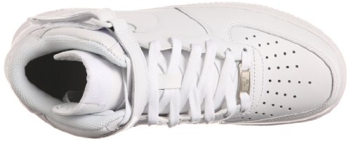 Nike Air Force 1 Mid 07, Baskets Hautes Homme Blanc (White/White)