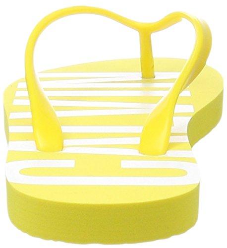 Calvin Klein FF Sandal, Tongs Femme Jaune (Buttercup 701)
