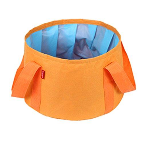 Lavabos de Salle de Bain Lavable Pliable extérieur Voyage Portable Pliant lavabo Voyage extérieur Sac Pliant (Color : Orange, Size : 31 * 27 * 18.5cm)