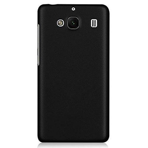 WOW Imagine(TM) Rubberised Matte Hard Case Back Cover For XIAOMI MI REDMI 2 / REDMI 2 PRIME (Black)