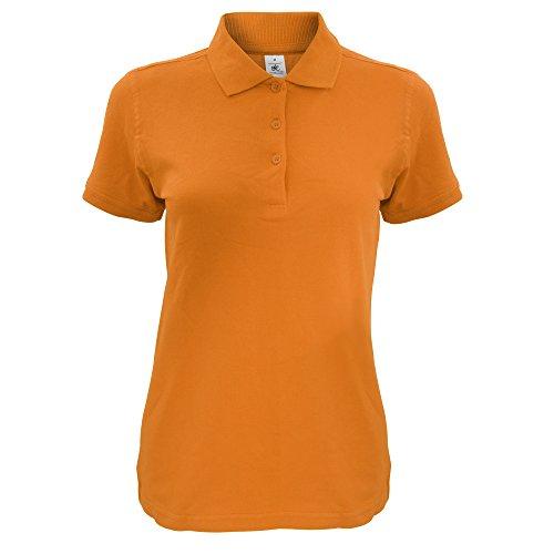 B&C Damen Safran Kurzarm Polo-Shirt Orange