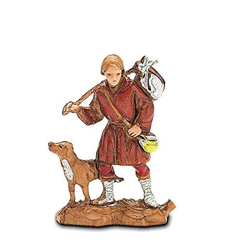 Moranduzzo viandante con cane, multicolore, 3.5 cm