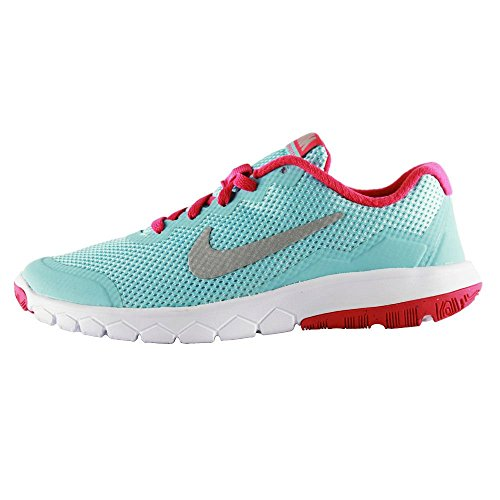 Nike - Flex Experience 4 (Gs) - , homme, multicolore (black/metallic silver-pink pow), taille 36 CO/SL/PK