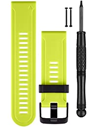 Garmin Replacement Watch Bands - Green Silicone