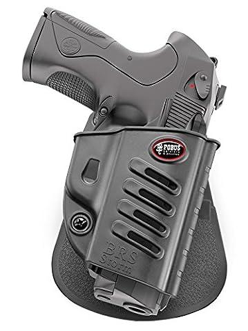 Fobus nouveau report dissimulé rétention réglable pistolet étui pour Beretta PX4 Storm Full size, Compact, Sub-Compact, Type F, D, G, SD, Inox, M9, 92A1 & 96A1, 96 Vertec 40 cal. , Beretta 90-Two .40S&W, 92FS, 92 Compact 9mm & 92 Compact Rail Inox 9mm / Baikal MP-446 étui en polymère noir