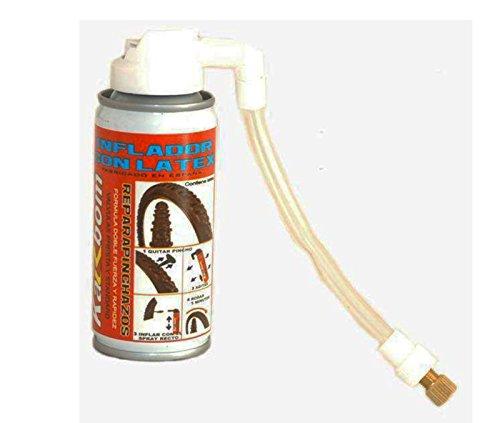 Spray Repara pinchazos de Camaras Ruedas Bicicleta + Racor todas valvulas 3922