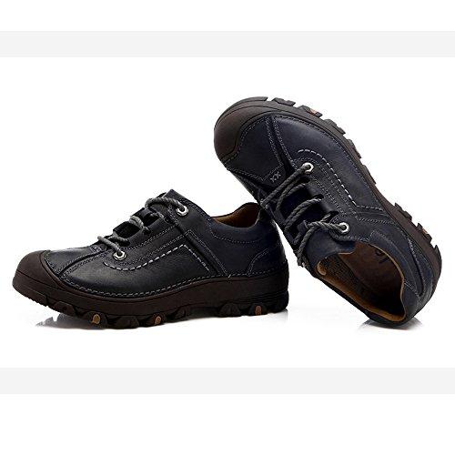 CHT Sommer Herbst Herren Outdoor Wanderschuhe Atmungsaktive Leder-Größe Multi-color Optional Code Black