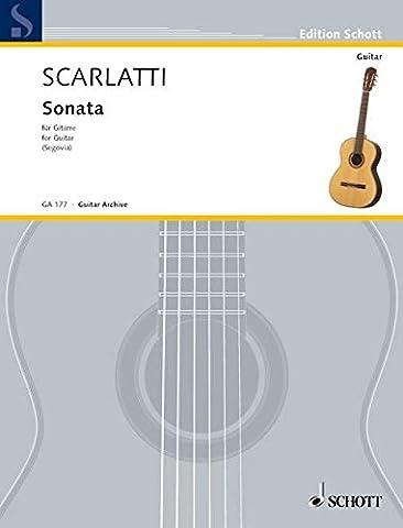 SCHOTT SCARLATTI DOMENICO - SONATA E MINOR - GUITAR Partition