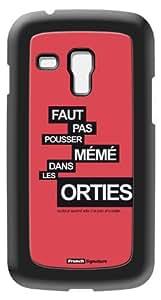 Modelabs Made In France Coque auto cicatrisante en silicone pour Samsung Galaxy S3 Mini Motif Mémé Corail