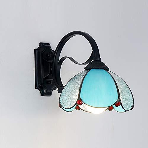 E27 Tiffany stil Wandlampe, Bett Wandbeleuchtung Einkopf Led spiegelleuchte badlampe Vintage...
