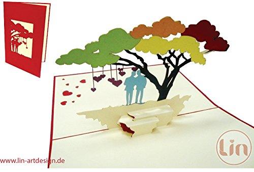 4. Lin - Postal de amor con diseño 3D