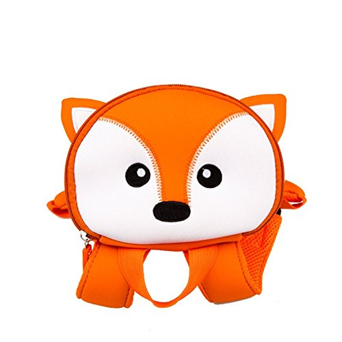 Unisex Baby Antiverlust Rucksack, Kinder Netzteil 2in 1Rucksack mit gepolsterter Gurt Geschirr Sicherheit Kind Kleinkind Walking Zügel Orange/Weiß fox