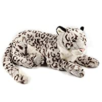 HUOQILIN Snow Leopard Plush Toy Doll Simulation Animal Doll