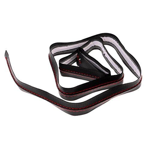 Homyl Hohe Qualität Griffband Griffbänder Overgrip Tapes aus PU-Leder Ersatzband Tennis Badminton Squash - Schwarz