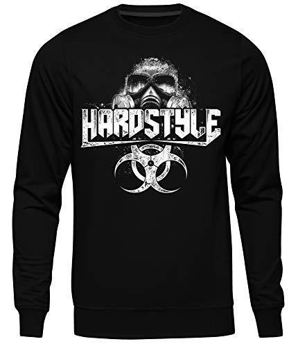 Uglyshirt89 Hardstyle Maske Männer Herren Pullover | Hardcore Musik Minimal Techno (M)