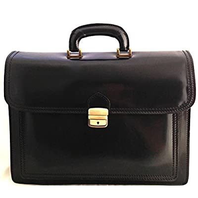 CTM Bag Men Briefcase in hand, 41x31x18cm, 100% Genuine Leather Made in Italy - mens-carry-all-organiser-bags