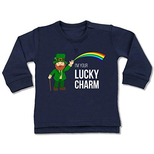 Shirtracer Anlässe Baby - Lucky Charm - 6-12 Monate - Navy Blau - BZ31 - Baby - Lucky Leprechaun Kostüm Kind