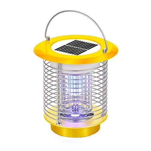 99native Insektenvernichter lampe, UV Insektenvernichter Mückenlampe Solarenergie Tragbare Insektenlampe gegen Mücken, Fliegen, Moskitos für Innen Schlafzimmer und Gärten (Gelb) - Gelbe Anzeige-lampe