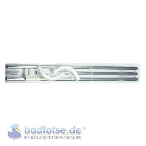 Duschvorhang-Stange 165 x 70 cm Ø 20 mm silber Winkelstange Bade-Wanne Dusche